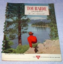 Vintage Conoco Oil Touraide Travel Maps Routing Attractions 1948 - $12.95