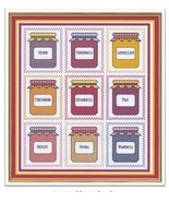 Jam Jars cross stitch chart Cross Stitch Cards - $9.00