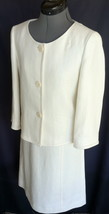 DANA BUCHMAN 2 Piece outfit Top 4 Skirt 2 Ivory Colors Match GREAT FOR WORK - $110.00