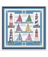 Sail Away cross stitch chart Cross Stitch Cards - $9.00