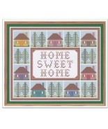 Home Sweet Home cross stitch chart Cross Stitch Cards - $9.00