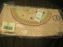 Gymboree Pink Sweater with Argyle pattern Hearts & Flowers Size 7 NWT NIP - $32.52