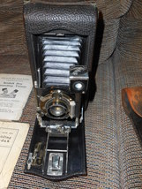 Kodak Folding Camera 3a with Guide Book and Case - $50.00