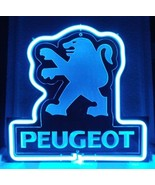 SB221 Peugeot European Autos Display Neon Light Sign Beer Bar Gift - $62.99