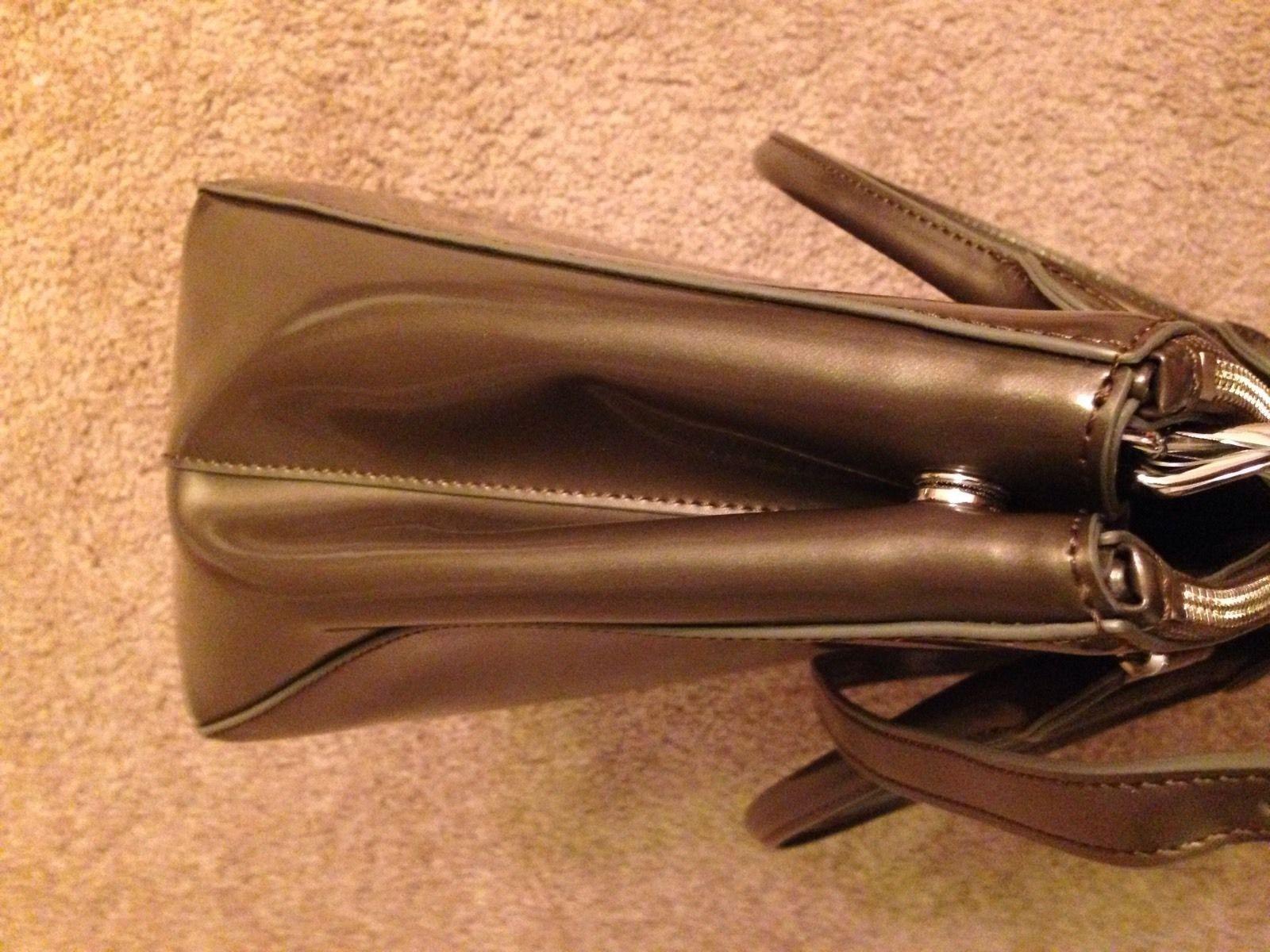 NWOT  298 Ralph Lauren Handbag Newbury Double Zip Satchel Leather - Dark  Gray 9a9e6f81714fb