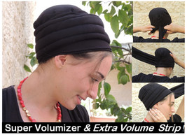 Super Volumizer & Extra Volume Strip-NEW-All In One Hat-Great under tichel,head  - $55.99