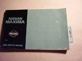 1996 Nissan Maxima Owners Manual [Paperback] by Nissan - $8.90