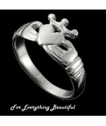 Claddagh Crown Heart Design Ladies Sterling Sil... - $100.00