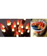 Candy Corn String Lights Two Tone Orange Yellow Mini Halloween Fall Deco... - $13.86