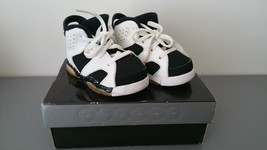 Jordan Retro 6 VI Oreo Black/White Child Toddler Baby Size 5C 384667-101 - $39.59