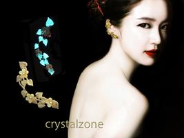 Swarovski Clear AB Crystal Ear Cuff Gold / Silv... - $9.99