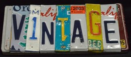Vintage License Plate Wall Art Hand Crafted Wall Decor The Beatles - $74.54