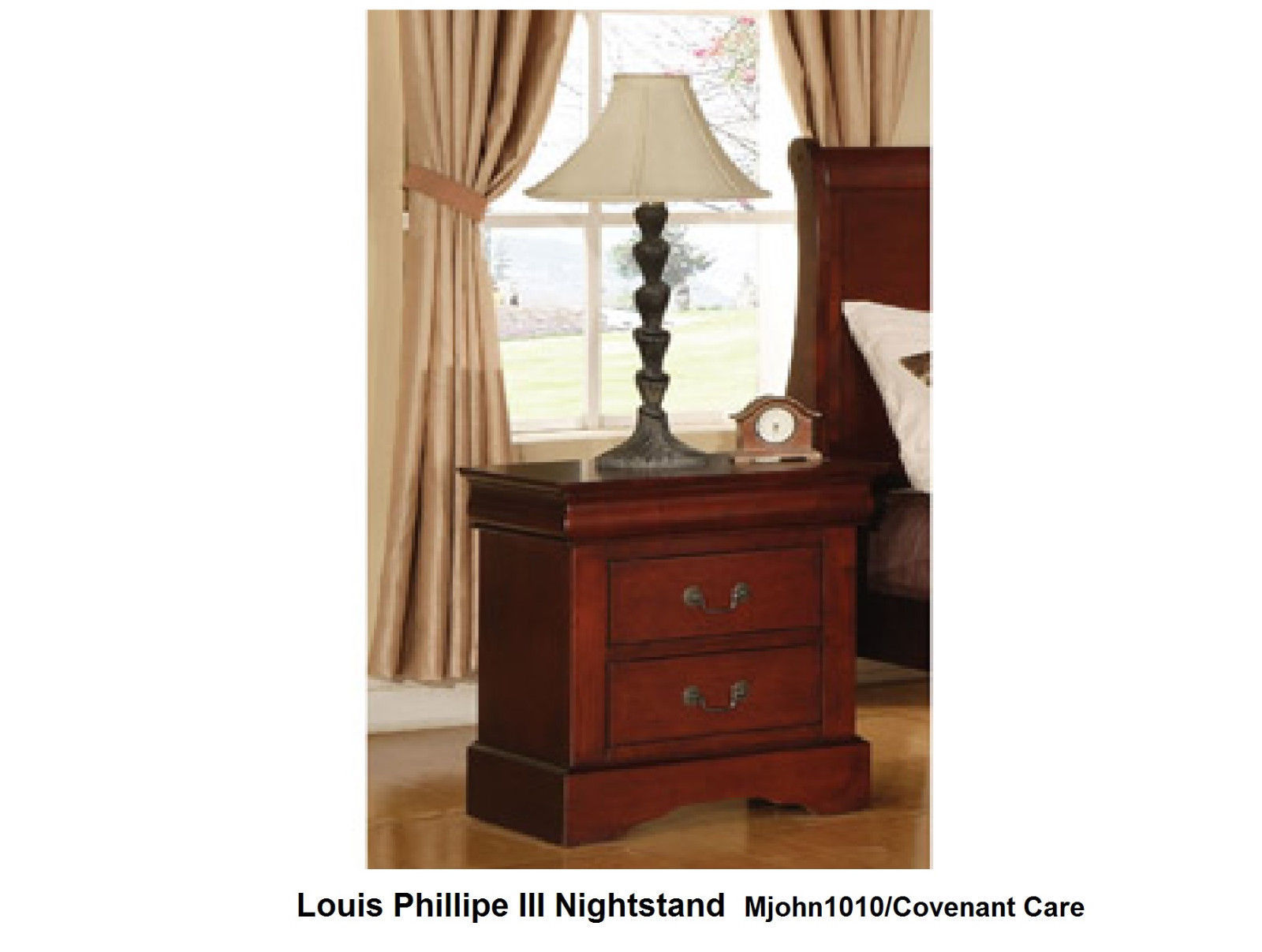 Louis Philippe Iii Nightstand Cherry Finish And 50 Similar