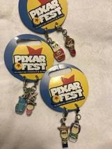 New Disney Parks Pixar Charm Set Toy Story Incredibles Monsters Inc - $15.80