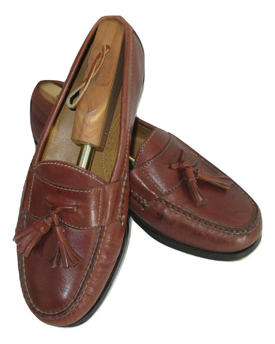 Cole Haan Shoes Size 7.5 Loafers Mens Brown Leather Tassels C06982 India