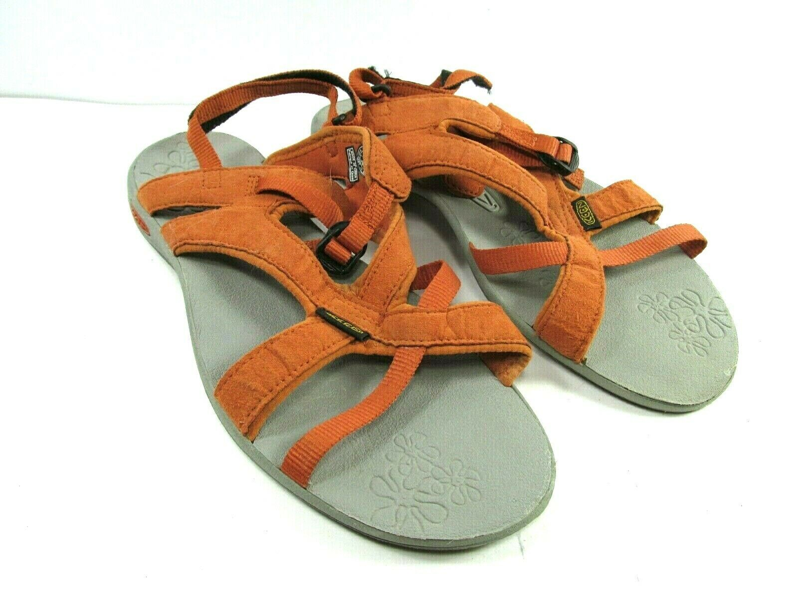 Keen Womens Orange Strappy Ankle Strap Sandals Size US 7.5  EUR 38