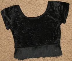 """Adult 34"""" Bust Black Velvet w Black Fringe Hem Costume - $15.17"""