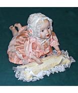 """Ashton Drake Large 14"""" Heather Porcelain Doll with Satin Pillow circa 19... - $15.95"""