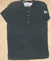"Black Tommy Hilfiger 30"" Bust Ribbed Knit Shirt... - $6.08"