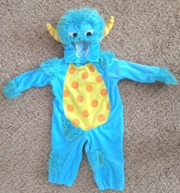 Blue Yellow Toddler Medium Sz 12 Month Monster Costume with Spots & Horns - $13.91