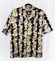 """HAWAIIAN SHIRT SIZE 2X LARGE MADE IN HAWAII by EVERGREEN CHEST 52"""" LENGT... - $8.95"""