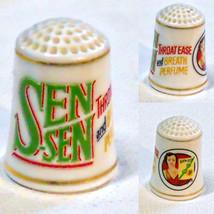 Thimble Sen Sen Breath Perfume Porcelain Franklin Mint 1980s - $3.00