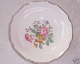 "Floral China White w Gold Floral Bowl 6"" Vintage - $5.99"