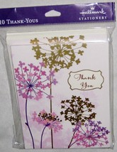 "Floral 5"" Thank You Cards w Envelopes Lot of 10 Hallmark Cards - $6.53"