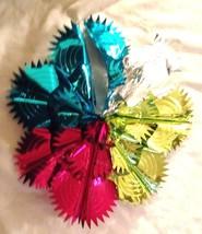 """Multicolor Metalic Foil 11"""" Wreath Pull Apart P... - $13.37"""