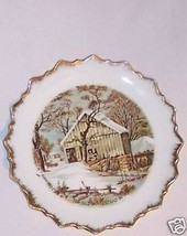 Plate Collector Currier & Ives Marked Old Winter - $9.41