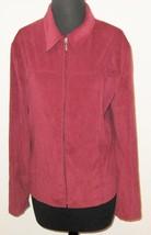 "Croft & Barrow Stretch 42"" Bust Red Woman Long Sleeve Zipper Jacket Coat - $9.41"