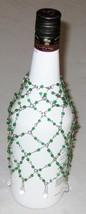 """Green 8"""" Bead Bottle Drape - Decorative Bottle Jewelry Wrap - $11.84"""