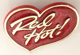 "Hallmark Red 2"" RED HOT Heart Pin Sign Broach J... - $7.25"