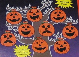 Hanging Vinyl Indoor Outdoor Orange Pumpkin Jack O Lanterns - Lot of 10 - $12.11