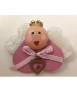 "Humor 2 1/4"" Homemade Angel w Heart Lips Pin Jewelry - $9.05"