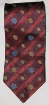 "Necktie 4"" X 58"" Silk Burgandy Red Black Blue Geometric DANIEL DE FASSON... - $6.71"