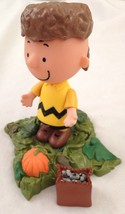 "Peanuts 5"" Charlie Brown Figurine w Pumpkin Base w Bag & Coon Cap - 4  p... - $9.05"