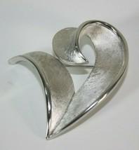 Trifari Vintage Silver Tone Leaf Brooch  - $24.21