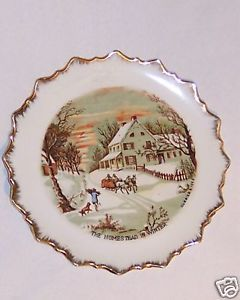 Plate Collector Currier & Ives Marked Winter