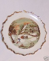 Plate Collector Currier & Ives Marked Winter - $9.41
