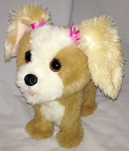 "Plush 10"" Tan White FRF Motion Sensitive Barking Crying Motion WATCH DOG - $14.00"