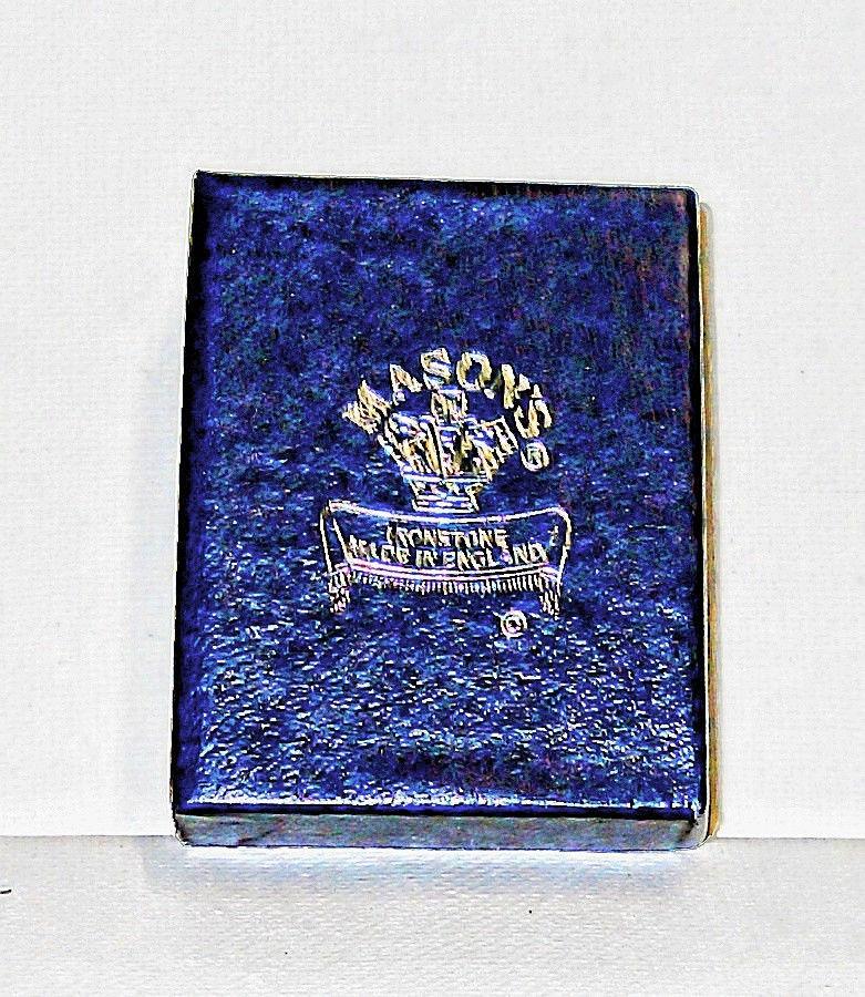 THIMBLE  MASON'S FINE ENGLISH PORCELAIN WITH ORIGINAL BOX