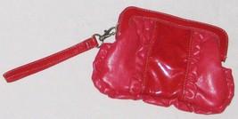 "Purse Red 8 1/2"" Ruffled Candies Clutch Handbag Purse w Handle & Magnet ... - $7.07"