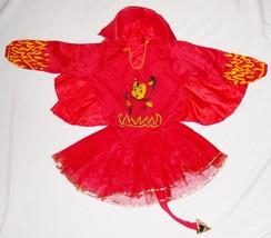 """Red 30"""" Bust Girls Devil Medium TUTU Costume w Tail & Cape - $14.27"""
