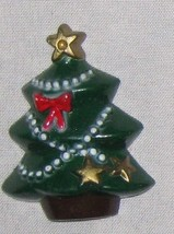 "Red Green 1 1/2"" Tree w Garland Ornament Figuri... - $9.05"
