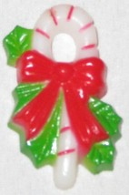 "Red Green 1 1/2"" Candy Cane Ornament Figurine With Magnet Back - $9.05"
