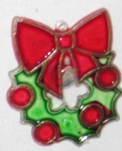 "Red Green 1 1/2"" Wreath Ornament Figurine With ... - $9.05"
