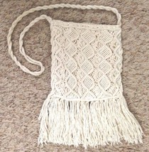 """White 6X10"""" Lined Woven Cotton Evening Bag Purs... - $7.07"""