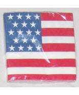 Red White Blue Patriotic US Flag 4th of July Napkins Lot of 20 - £4.70 GBP