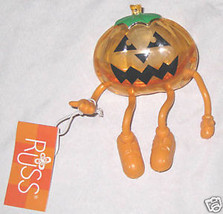 Russ Halloween Dangle Feet Pumpkin Head Candy Dispenser - $6.71